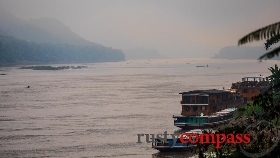 The misty morning Mekong, Luang Prabang