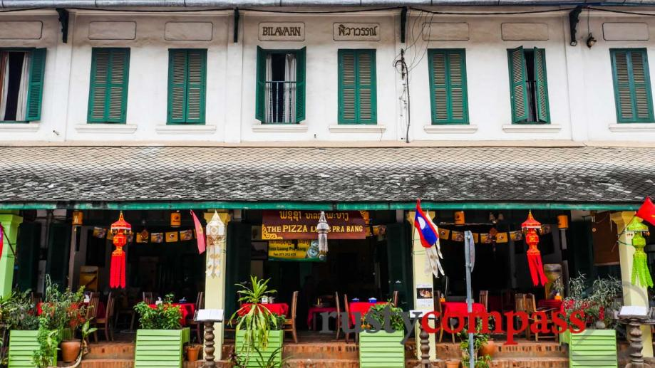 Luang Prabang's shophouses are now mostly tourist shops and restaurants.
