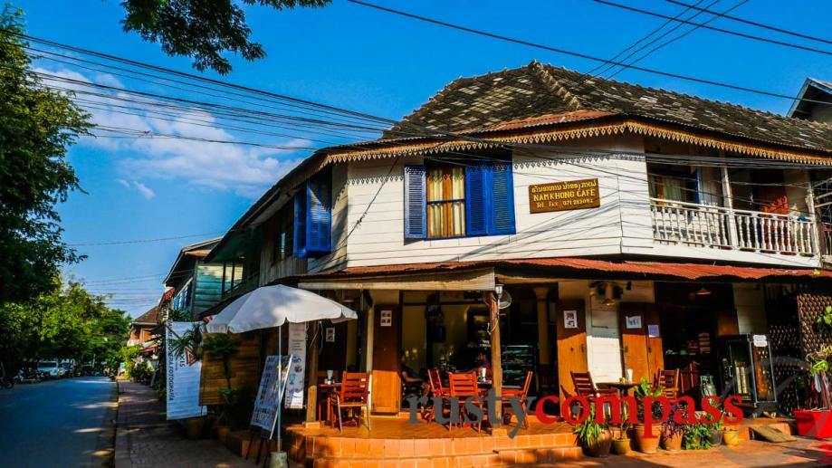 Cafe along the Luang Prabang riverfront.
