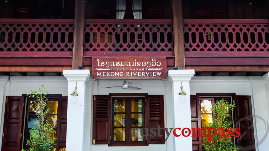 Handsome hotel in the Luang Prabang old town.