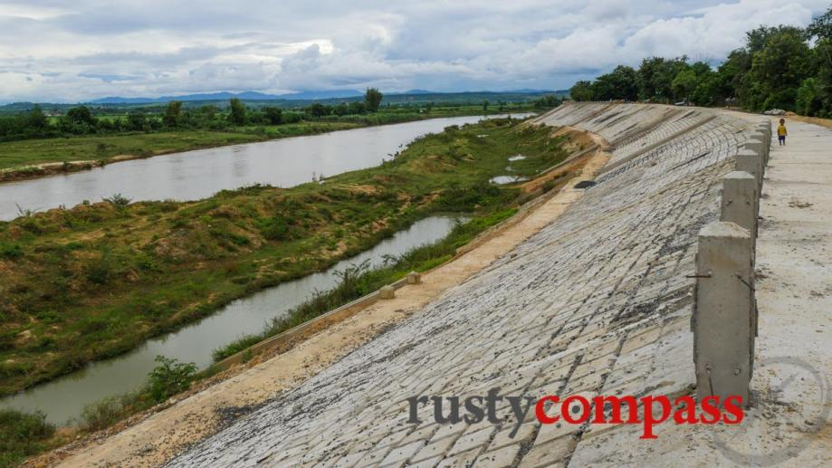 Concrete on the Kontum riverfront. Kontum city officials seem to...
