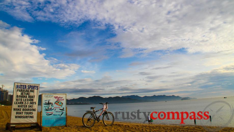 Early morning on Nha Trang beach.