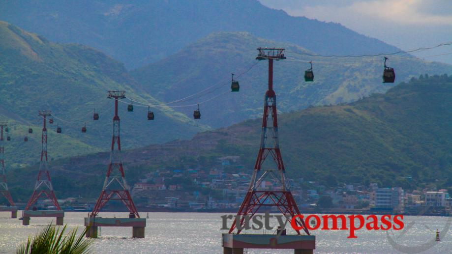 A controversial cable car connects Nha Trang with Vinpearl Island...
