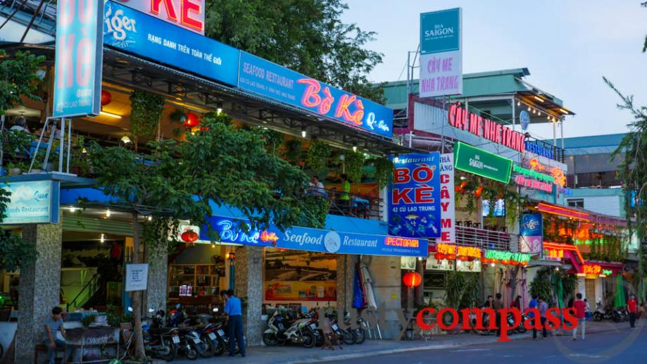 Nha Trang's seafood's great so head down to the Cai...