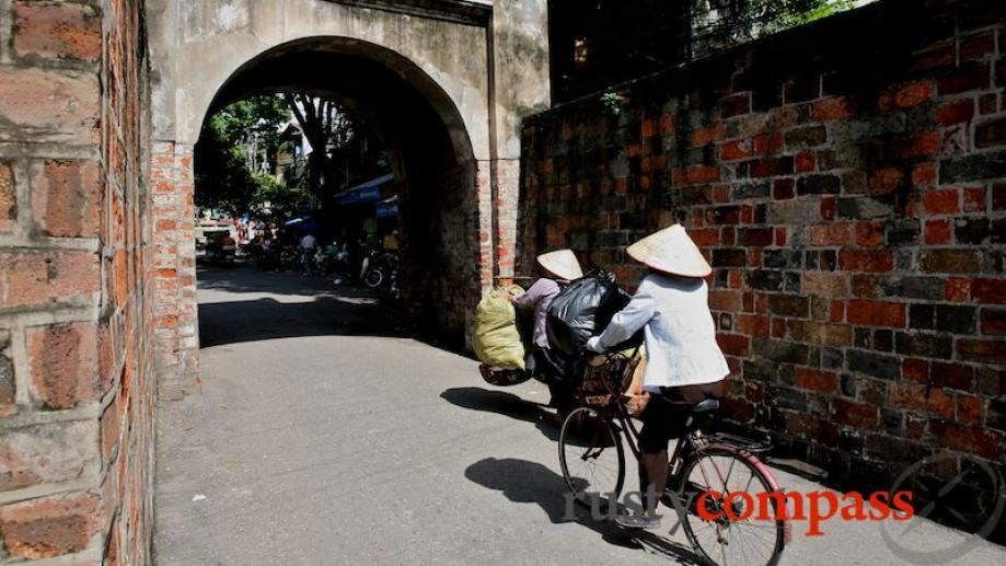 One of the last remnants of Hanoi's city walls in...