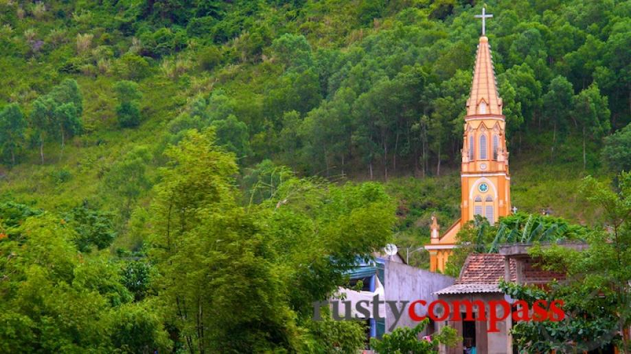 Unexpected church enroute to Phong Nha. There are lots in...
