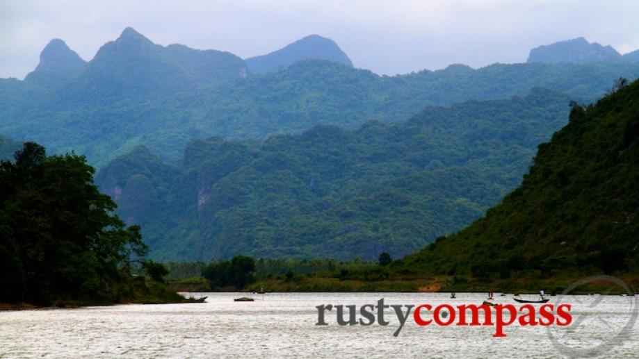 Son River, Phong Nha. The scenery outside the caves is...