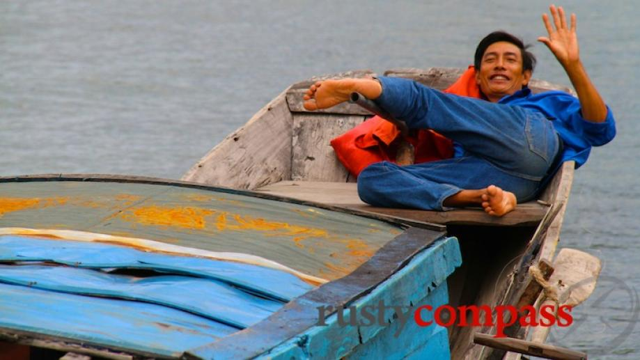 Boat man, Phong Nha. It's a spectacular with countryside not...