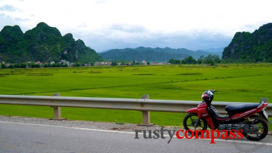My bike on the Ho Chi Minh Highway. This area...