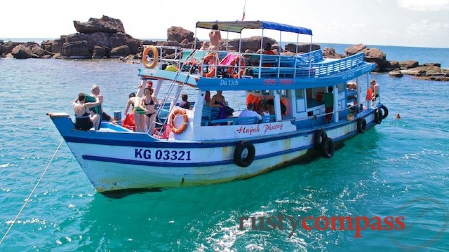 Phu Quoc Island boat trip. The snorkelling off this and...