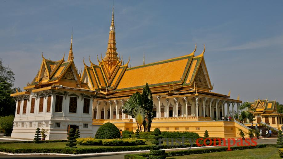 The Throne Hall. The current monarch, King Norodom Sihamoni was...