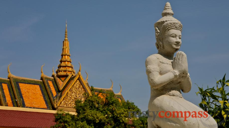 The Royal Palace borrows heavily from its counterpart in Bangkok....