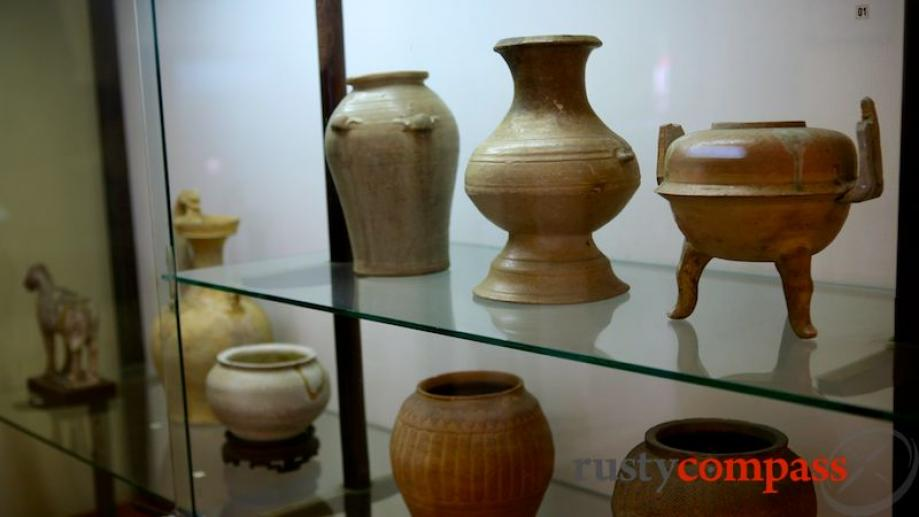 History Museum, pottery pieces.