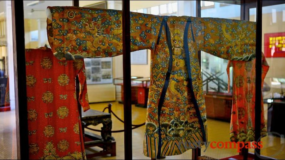 19th century royal costumes from the Nguyen Dynasty, Hue.