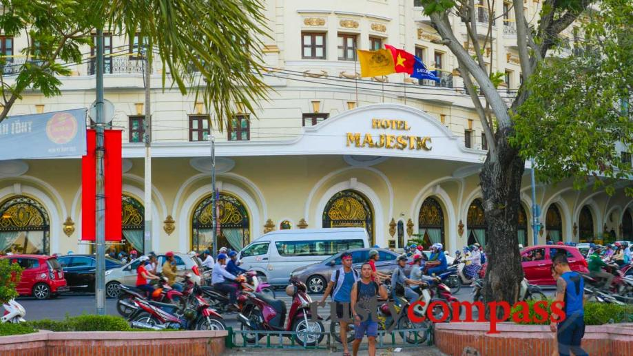 Majestic Hotel along the Saigon river walk