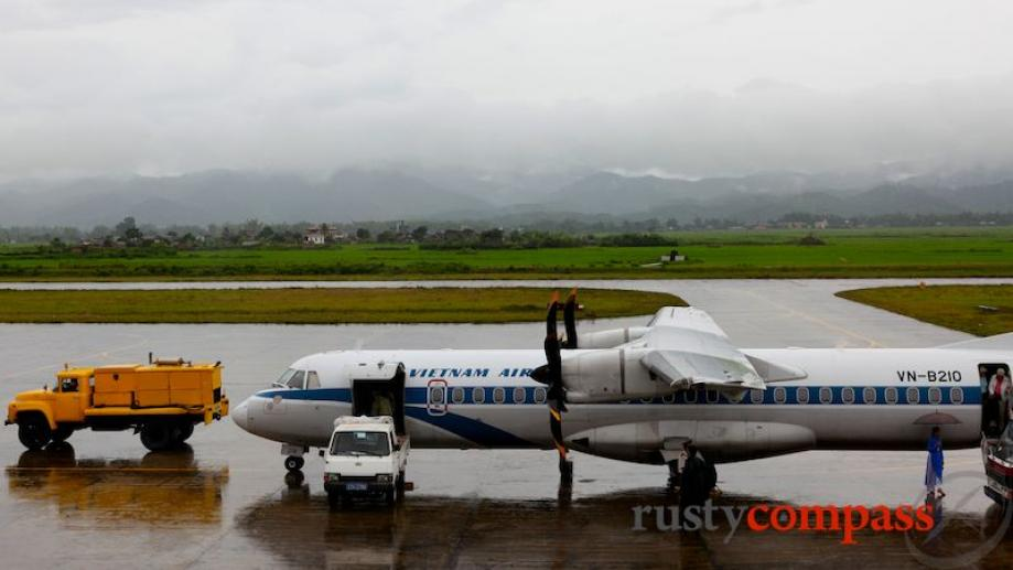 Day 7. A Vietnam Airlines's ATR72 on the tarmac at Dien...