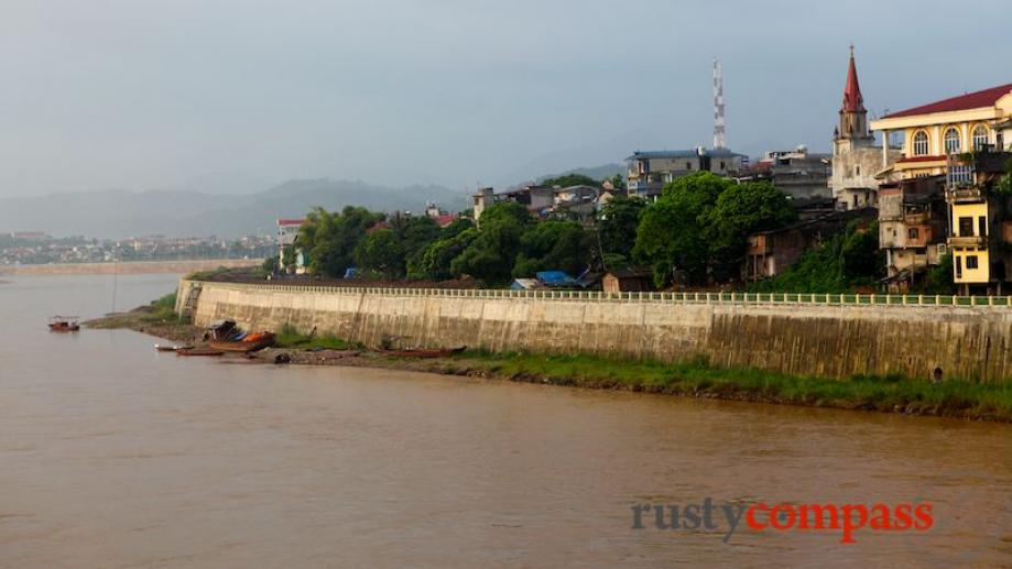 Lao Cai with the Red River which runs from here...