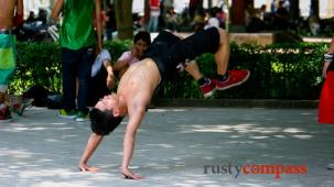 Breakdancing in Hanoi's Lenin Park