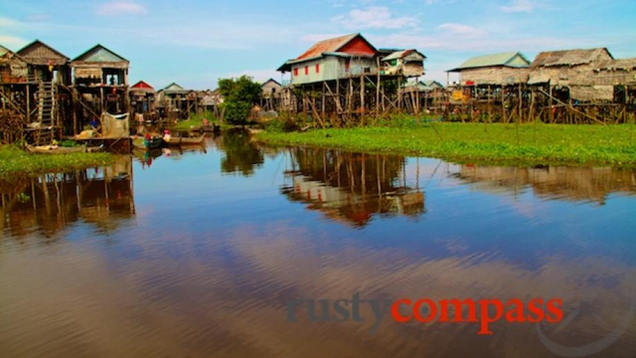 Kompong Phluk floating village on Ton Le Sap lake.