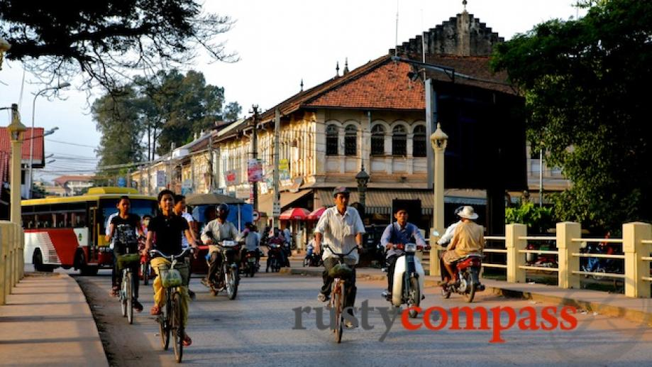 It's pretty hard for the town of Siem Reap to...