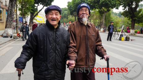 These 2 lovely gents are all you need to understand about Hanoi's expanded pedestrian areas