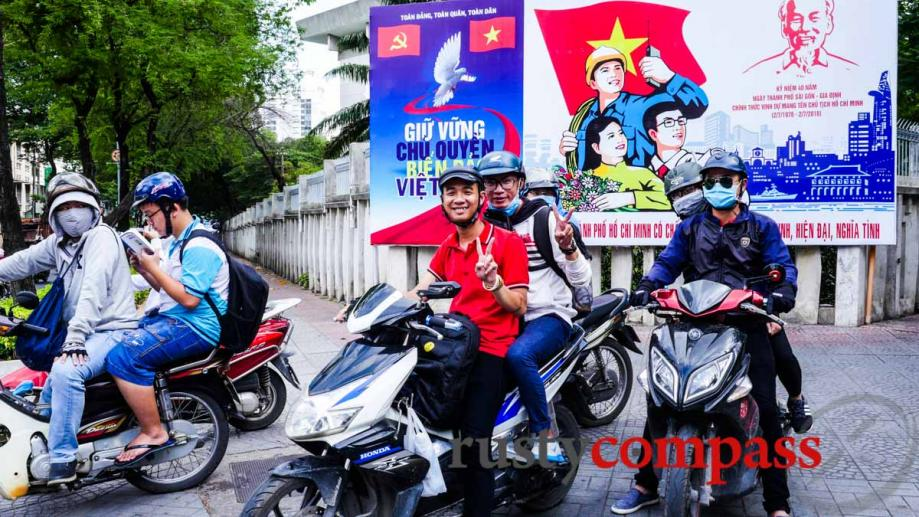 Billboards: The 40th anniversary of the renaming of Saigon