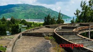 The resort ruin on Dai Lanh Beach