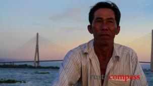 Slice of life Vietnam - the Mekong River boat man, Can Tho