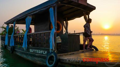 A sunset cruise on the Mekong, Phnom Penh